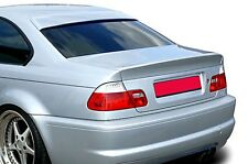 BMW E46 Coupe Euro M M3 Roof Extension Rear Window Cover Spoiler Wing Trim ABS -