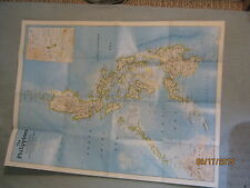 THE HISTORY OF THE PHILIPPINES MAP July 1986 National Geographic MINT