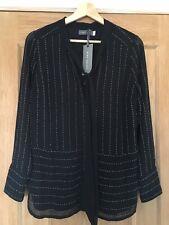 MINT VELVET BNWT Black Beaded Blouse - Size 10
