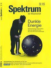 Spektrum der Wissenschaft, Heft September 9/2016: Dunkle Energie +++ wie neu +++