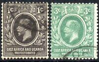 1921 British East Africa Sg 65/66 Short Set of 2 Values Fine Used