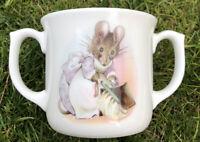 Royal Albert Bone China Mug Cup Two Handled.Baby Hunca Munca. Mouse Rare