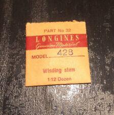 NOS Longines Winding Stem Cal.428 428 Part 401 Watch Parts Repair Restore Swiss
