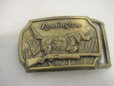 OLD REMINGTON DOG GUN LAB BELT BUCKLE