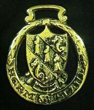 Wonderful Vintage HERM ISLAND CREST Horse Harness Brass England WOW YOUR WALLS