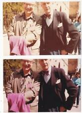 Two vintage photos of FORREST J ACKERMAN and VINCENT PRICE in the 1980s..