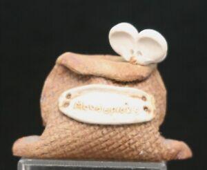 Vintage Australian Handmade Ceramic Mouse Toothpick Holder