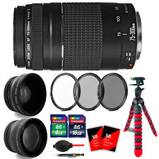 Canon EF 75-300mm f/4-5.6 III Lens for EOS Rebel XTi T4i T5 T6 T6i T6s 70D 80D