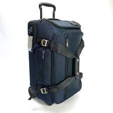 Tumi Merge Wheeled Duffel Bag Expandable Carry On Navy Blue 222844 $750