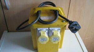 240V to 110V Portable Tool Transformer 2 110v outlet Sockets - Good used item.