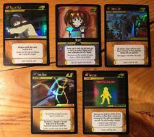 Dot Hack .Hack Enemy TCG Lot of 5 Promo Foil Cards (3T1, 2, 3, 4, 5) M/NM