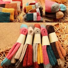 5 Pairs Women New Wool Cashmere Thick Soft Warm Solid Casual Sports Socks Winter
