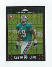 2007 Topps Chrome Xfractor #TC201 Ted Ginn Jr. Rookie Dolphins Panthers