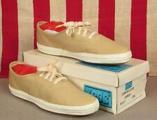 Vintage 1960s Keds Champion Oxford Canvas Sneakers Chino NOS Shoes w/Box Sz 8.5