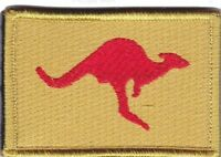 Army Australia OBG4 Iraq Deployment Patch hook backing