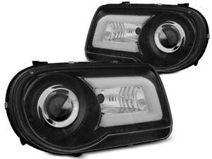 TUBE LIGHT HEADLIGHTS LPCH22 CHRYSLER 300C 2005 2006 2007 2008 2009 2010 BLACK