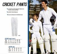 Kids Cricket Pants Adjustable Waist Cord Size 8 Size 10 Size 12 Size 14 Size 16