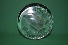 Mats Jonasson Kosta Sweden Art Glass Bird Paperweight 99153