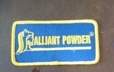 Patch - Alliant Powder New Iron On Embroidered Patch - great collectible Logo 4