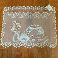 """Heritage Lace Ecru Teatime (Set Of 4) Placemats 14""""x20"""""""