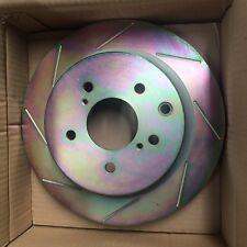 sale- MSU rear SLOTTED DISC brake ROTORS for NISSAN 300ZX Z32 VQ30DETT VQ30