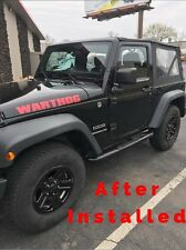 "2007-2016 Jeep WRANGLER GLOSS BLACK Wheel Skins Hubcaps Covers 16"" Steel Wheels"