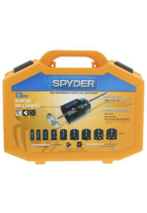 New Spyder 13pc Bi-Metal Hole Saw Kit 5x FASTER!!!!