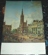 Danzig Gdansk Lange Markt Tafel nach Gemälde Domenico Quaglio 1833 Druck Ansicht