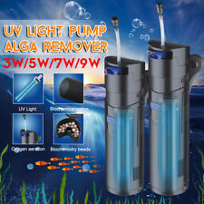 Submersible UV Sterilizer Lamp Aquarium Pond Fish Tank Light Water Clean