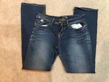 DEREON NAUGHTY SKINNY Fleur Rock Gold JEANS PLUS SIZE sexy 13/14