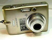 Nikon COOLPIX L11 6.0MP  Digital Camera works good