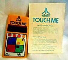 Atari Touch Me Handheld Game W/Manual Tested WORKS Vintage Retro Simon '70s Game