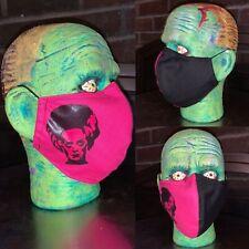 Washable Fashion Cotton Lining Face Mask Bride Of Frankenstein Appliqué Horror