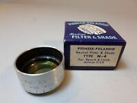 RARE Pioneer Polaroid Neutral Filter and Shade Type N-4 For B+L Animar F/2.8