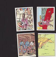Herge Tintin Panini 1989 autocollant 4 im 61 62 63 64
