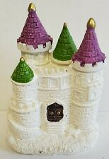White Resin Mini Castle Garden Decor Home Decor Decorative Statue NWOT