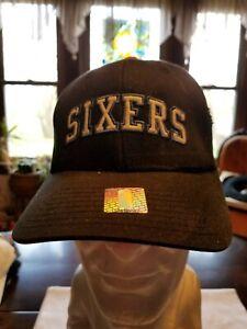 SIXERS NBA 76ers Nike Baseball Cap Hat Black & Red S / M