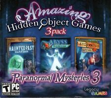 Amazing Hidden Objects 3 PACK Paranormal Mysteries 3 (PC DVD) NEW! FREE SHIPPING