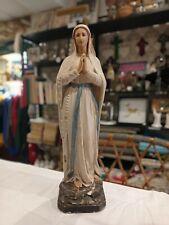 Statue sainte vierge marie XIX plâtre