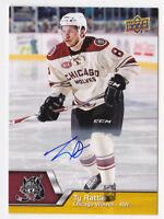 14-15 Upper Deck AHL Ty Rattie Auto Chicago Wolves Oilers 2014