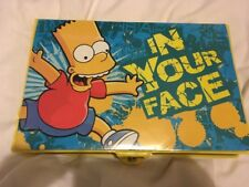 THE SIMPSONS BART SIMPSON IN YOUR FACE LARGE ART CARRY CASE CRAYONS PENCILS ETC