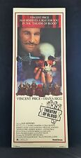 Original 1973 THEATRE OF BLOOD Movie Poster 14 x 36 CLASSIC HORROR Vincent Price