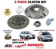 FOR TOYOTA AVENSIS VERSO + RAV 4 2.0 VVTI 1AZ-FE 2000-2006 NEW CLUTCH KIT