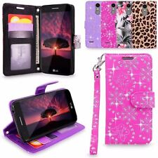 PU Leather Card Wallet Case Cover For LG K8 2017,Aristo, Fortune, LV3, Phoenix 3