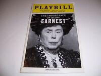 FEB 2011 PLAYBILL - THE IMPORTANCE OF BEING EARNEST - BRIAN BEDFORD WHITEHEAD