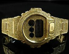 Yellow G-Shock Digital Men's Canary Simulated Diamond Watch Joe Rodeo Jojino Kc