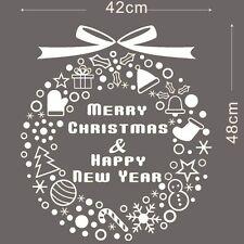 Christmas Xmas Circle Tree Wall Window Home Shop Decor Art Vinyl Decal Sticker