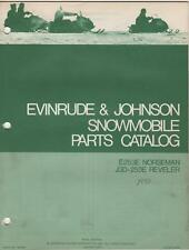 1973 EVINRUDE/JOHNSON SNOWMOBILE PARTS MANUAL SEE LIST