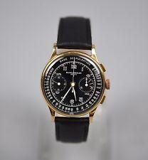 VTG Baume & Mercier 18K Pink Rose Gold Pulsation Chronograph Watch Landeron 48