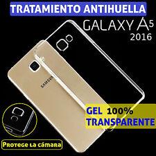 FUNDA TPU DE GEL SILICONA PARA SAMSUNG GALAXY A5 2016 100% TRANSPARENTE CARCASA